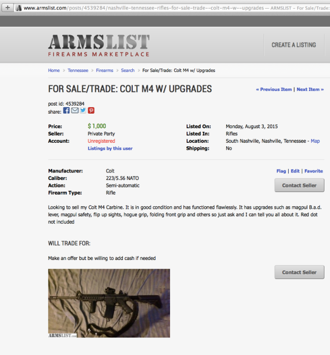 For Sale - Colt M4 - Nashville
