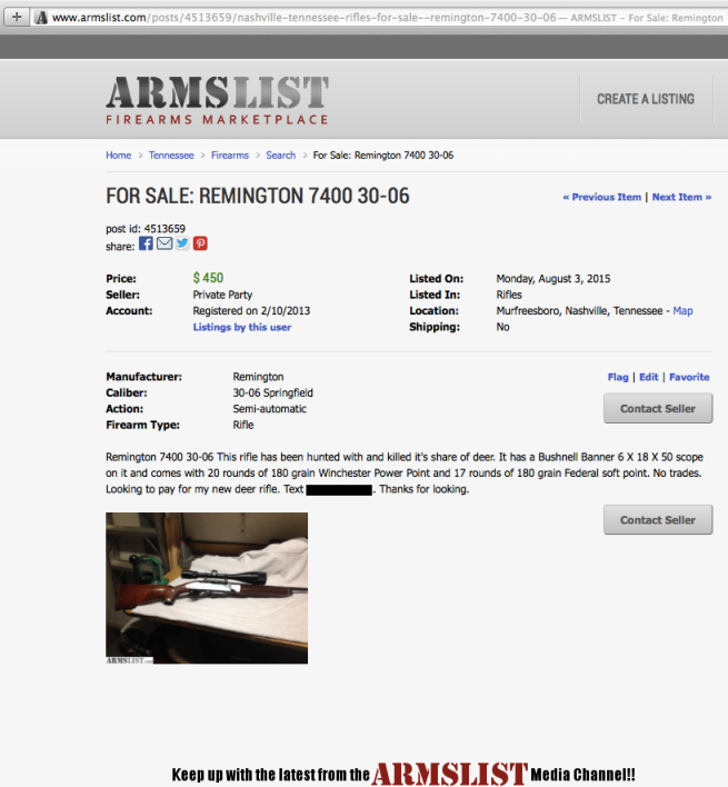 For Sale - remington 7400 Murfreesboro